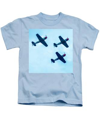 Action In The Sky During An Airshow Kids T-Shirt