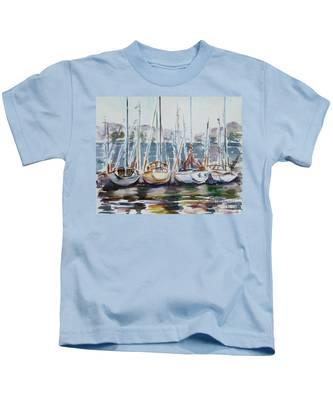 4 Boats Kids T-Shirt