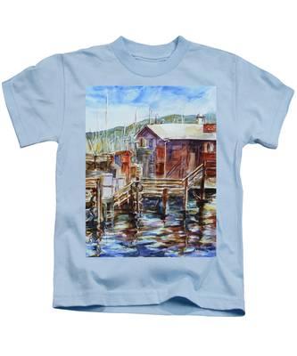 At Monterey Wharf Ca Kids T-Shirt