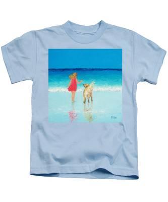 Beach Painting 'sunkissed Hair'  Kids T-Shirt
