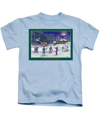 Campton Mountain Ski Area Kids T-Shirt