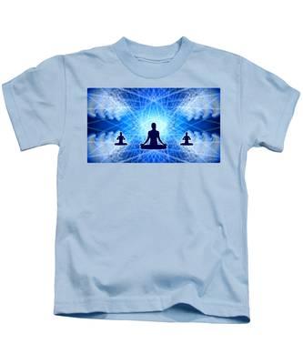 Kids T-Shirt featuring the digital art Cosmic Spiral Ascension 22 by Derek Gedney