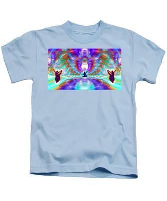 Kids T-Shirt featuring the digital art Cosmic Spiral Ascension 71 by Derek Gedney
