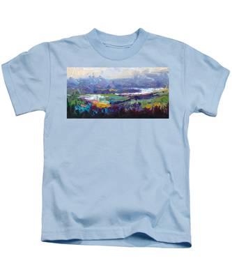 Overlook Abstract Landscape Kids T-Shirt