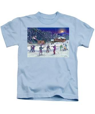 Ski Area Campton Mountain Kids T-Shirt
