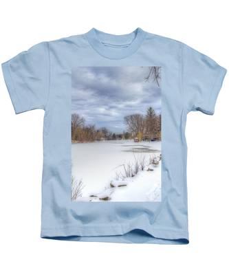 Snowy Lake Kids T-Shirt