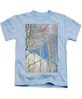Cloudy Aspen Sky Kids T-Shirt