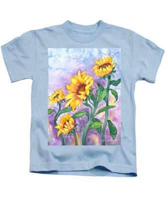 Sunny Sunflowers Kids T-Shirt