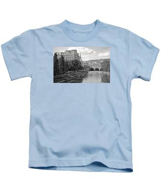 Bath On Avon By Mike Hope Kids T-Shirt