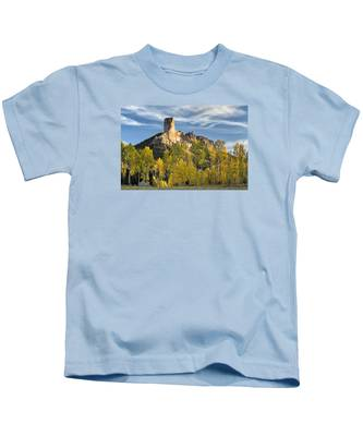Before Sunset At Chimney Rock Kids T-Shirt