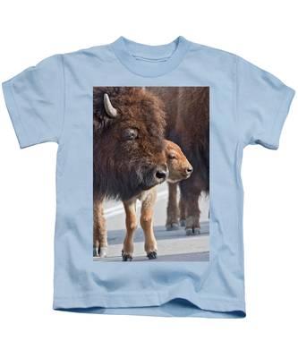 Bison Family Kids T-Shirt