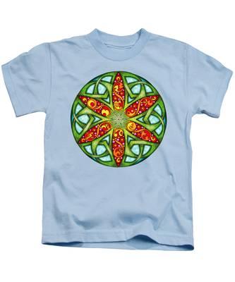 Celtic Summer Mandala Kids T-Shirt