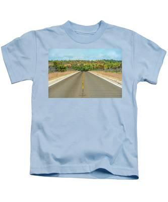 Color At Roads End Kids T-Shirt