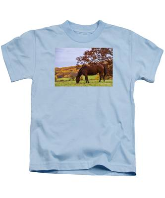 Fall And A Horse Kids T-Shirt