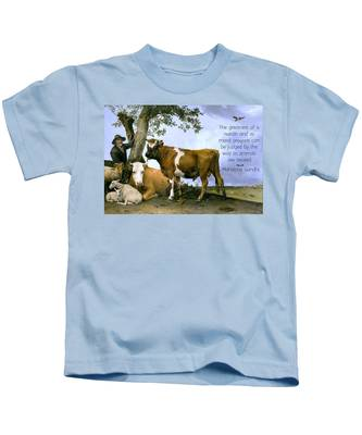 Greatness Of A Nation Kids T-Shirt
