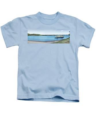Gull Lake Panorama Kids T-Shirt