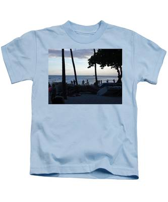 Hawaii Sunset Kids T-Shirts