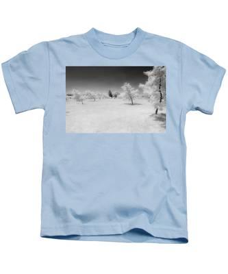 Infrared Peach Orchard Kids T-Shirt