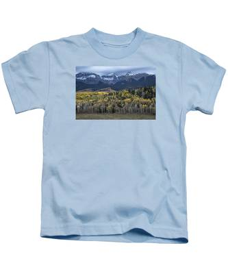 Last Light On Autumn Aspens Kids T-Shirt