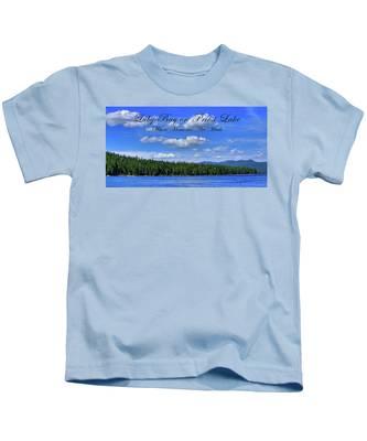 Luby Bay On Priest Lake Kids T-Shirt
