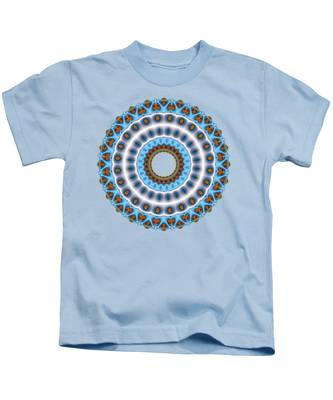 Peacock Fractal Mandala I Kids T-Shirt