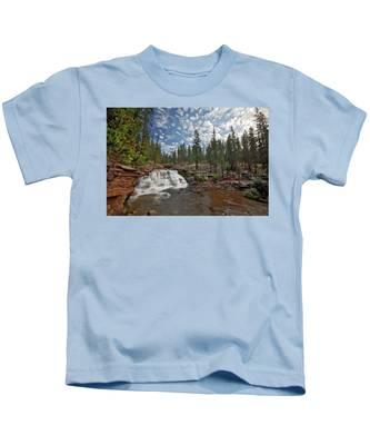 Provo River Falls Kids T-Shirt