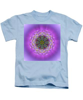 Kids T-Shirt featuring the digital art Sacred Geometry 715 by Endre Balogh