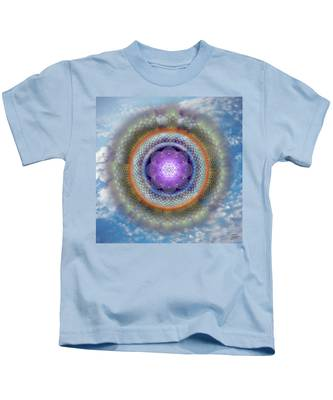 Kids T-Shirt featuring the digital art Sacred Geometry 716 by Endre Balogh