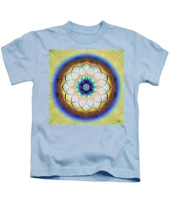 Kids T-Shirt featuring the digital art Sacred Geometry 723 by Endre Balogh