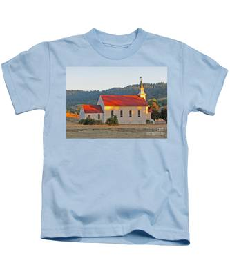 St. Mary's Church At Sunset Kids T-Shirt