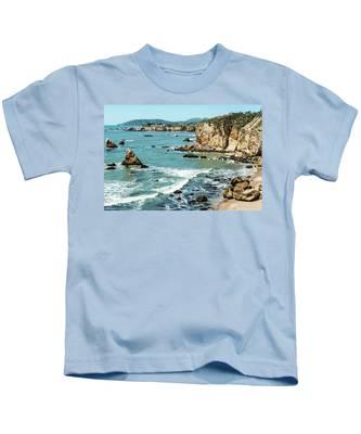 Sea And Cliffs Kids T-Shirt