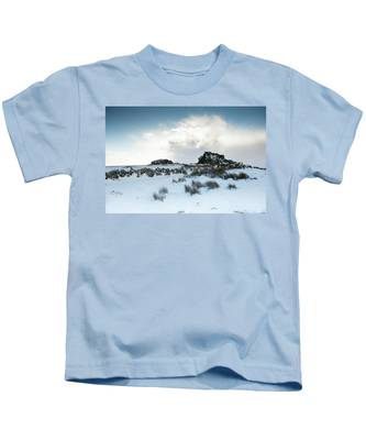 South Hessary Tor In The Snow II Kids T-Shirt