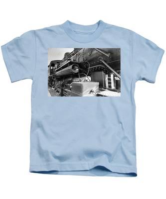 Steam Locomotive Side View Kids T-Shirt