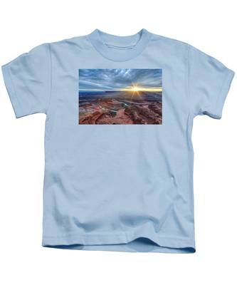 Sunburst At Dead Horse Point Kids T-Shirt