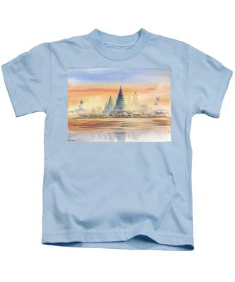 Temples In The Dusk Kids T-Shirt