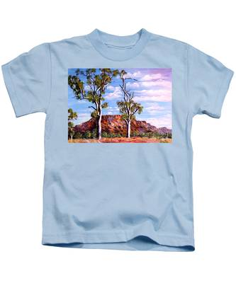 Twin Ghost Gums Of Central Australia Kids T-Shirt