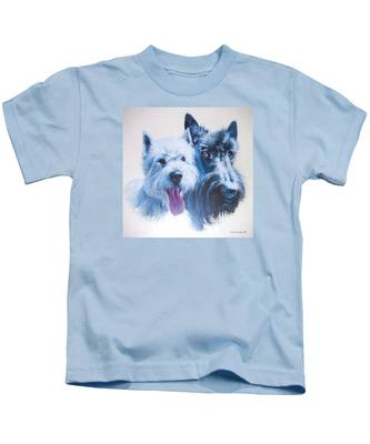 Westie And Scotty Dogs Kids T-Shirt