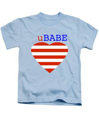 Hearts And Stripes Kids T-Shirt