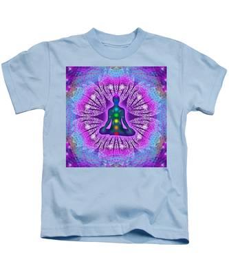 Resonance Grid Kids T-Shirt by Derek Gedney