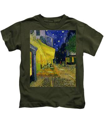 Cafe Terrace Arles Kids T-Shirt