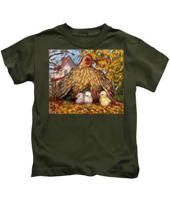 Hen And Chicks Kids T-Shirt