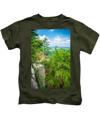 Beautiful Aerial Landscape Views From Crowders Mountain North Ca Kids T-Shirt