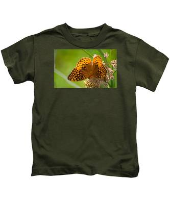 Great Spangled Fritillary Kids T-Shirt
