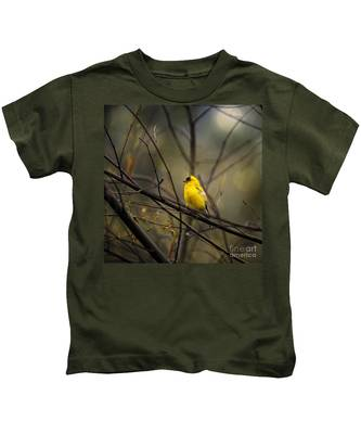 April Showers In Square Format Kids T-Shirt