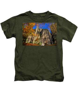 Autumn Colors In The Saxon Switzerland Kids T-Shirt