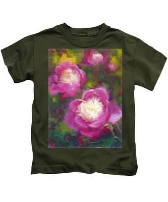 Bowls Of Beauty - Alaskan Peonies Kids T-Shirt