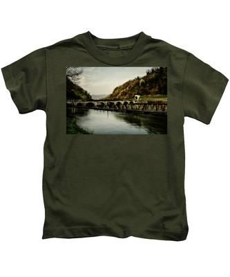 Dam On Adda River Kids T-Shirt
