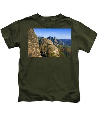 Early Morning On Neurathen Castle Kids T-Shirt