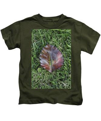 Kids T-Shirt featuring the photograph Fallen Leaf  by Bridgette Gomes