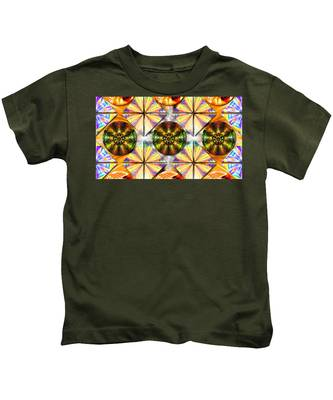 Kids T-Shirt featuring the drawing Geometric Dreamland by Derek Gedney
